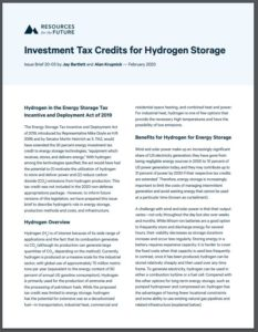 Investment Tax Credits for Hydrogen Storage