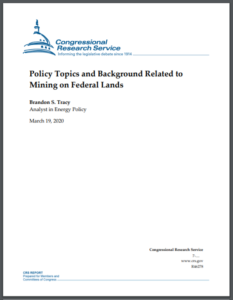 Policy Topics and Background Related to Mining on Federal Lands