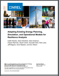 Adapting Existing Energy Planning, Simulation, and Operational Models for Resilience Analysis