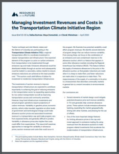 Managing Investment Revenues and Costs in the Transportation Climate Initiative Region
