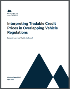 Interpreting Tradable Credit Prices in Overlapping Vehicle Regulations