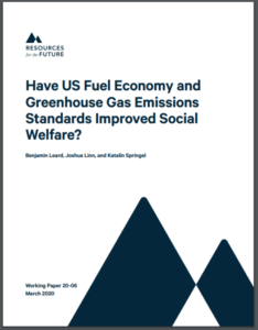 Have US Fuel Economy and Greenhouse Gas Emissions Standards Improved Social Welfare?