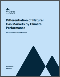 Differentiation of Natural Gas Markets by Climate Performance