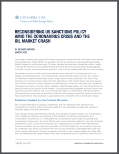 Reconsidering US Sanctions Policy Amid the Coronavirus Crisis and the Oil Market Crash