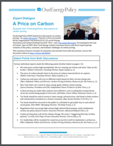 Expert Dialogue: A Price on Carbon