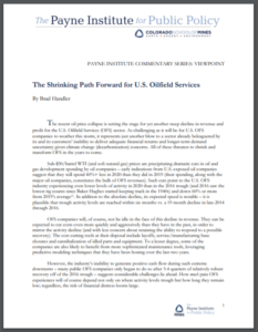 The Shrinking Path Forward for U.S. Oilfield Services