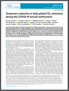 Temporary Reduction in Daily Global CO2 Emissions During the COVID-19 Forced Confinement