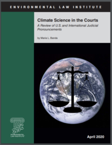 Climate Science in the Courts