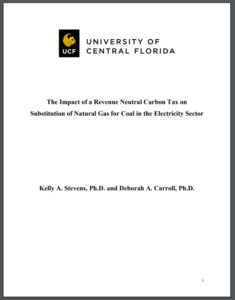 The Impact of a Revenue Neutral Carbon Tax on Substitution of Natural Gas for Coal in the Electricity Sector