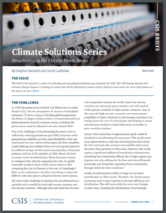 Climate Solutions Series: Decarbonizing the Electric Power Sector
