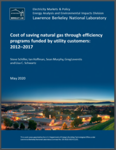 Cost of saving natural gas through efficiency programs funded by utility customers: 2012–2017
