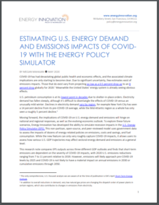Estimating U.S. Energy Demand And Emissions Impacts Of COVID-19 With The Energy Policy Simulator