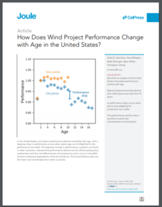How Does Wind Project Performance Change with Age in the United States?
