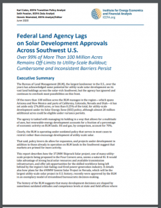 Federal Land Agency Lags on Solar Development Approvals Across Southwest U.S.