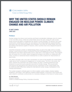 Why the United States Should Remain Engaged on Nuclear Power: Climate Change and Air Pollution
