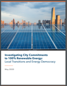 Investigating City Commitments to 100% Renewable Energy: Local Transitions and Energy Democracy