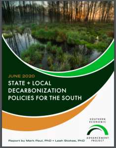 State + Local Decarbonization Policies for the South