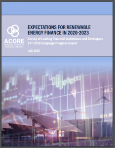 Expectations for Renewable Energy Finance in 2020-2023