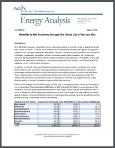 Benefits to the Economy through the Direct Use of Natural Gas