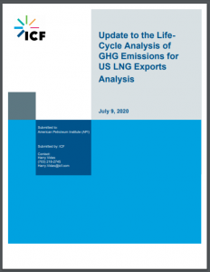 Update to the LifeCycle Analysis of GHG Emissions for US LNG Exports Analysis