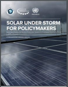 Solar Under Storm for Policymakers