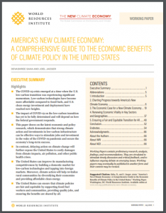 America's New Climate Economy: A Comprehensive Guide to the Economic Benefits of Climate Policy in the United States