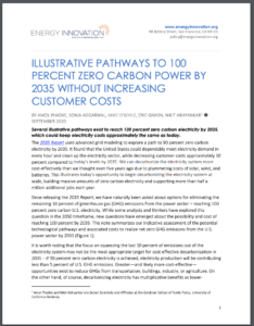 Illustrative Pathways to 100 Percent Zero Carbon Power by 2035 Without Increasing Customer Costs