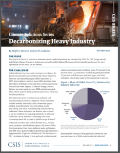 Climate Solutions Series: Decarbonizing Heavy Industry