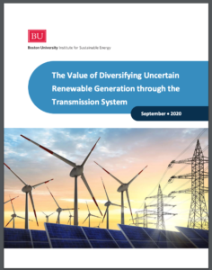 The Value of Diversifying Uncertain Renewable Generation through the Transmission System