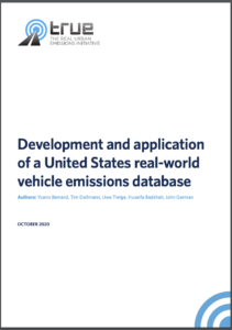 Development and application of a United States real-world vehicle emissions database