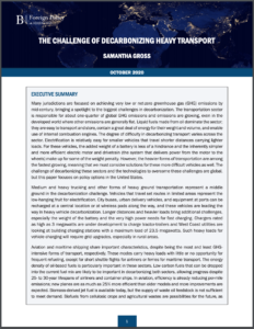 The Challenge of Decarbonizing Heavy Transport