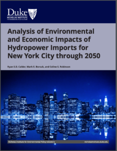 Analysis of Environmental and Economic Impacts of Hydropower Imports for New York City through 2050