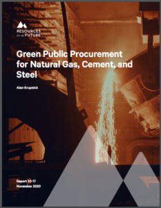 Green Public Procurement for Natural Gas, Cement, and Steel