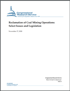Reclamation of Coal Mining Operations: Select Issues and Legislation