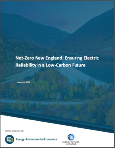 Net-Zero New England: Ensuring Electric Reliability in a Low-Carbon Future