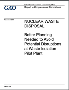 Nuclear Waste Disposal: Better Planning Needed to Avoid Potential Disruptions at Waste Isolation Pilot Plant