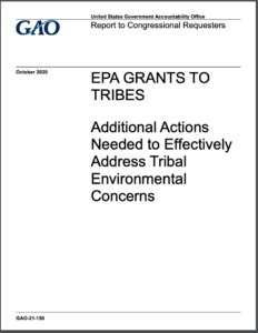EPA Grants to Tribes: Additional Actions Needed to Effectively Address Tribal Environmental Concerns