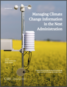 Managing Climate Change Information in the Next Administration