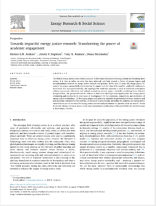 Towards impactful energy justice research: Transforming the power of academic engagement