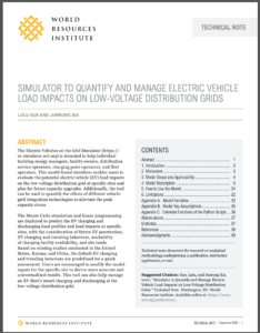 Simulator to Quantify and Manage Electric Vehicle Load Impacts on Low-voltage Distribution Grids