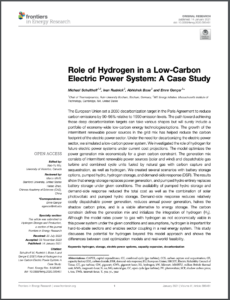 Role of Hydrogen in a Low-Carbon Electric Power System: A Case Study