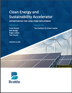 Clean Energy and Sustainability Accelerator: Opportunities for Long-Term Deployment