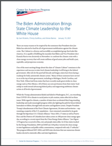 The Biden Administration Brings State Climate Leadership to the White House