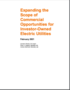 Expanding the Scope of Commercial Opportunities for Investor-Owned Electric Utilities