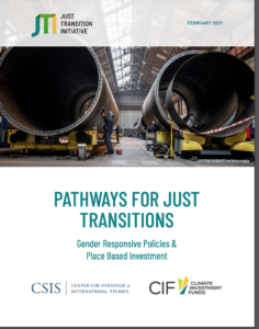 Pathways for Just Transitions: Gender-Responsive Policies and Place-Based Investment