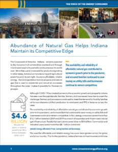 Abundance of Natural Gas Helps Indiana Maintain its Competitive Edge