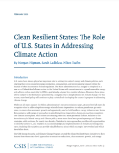 Clean Resilient States: The Role of U.S. States in Addressing Climate Action