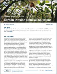 Carbon Dioxide Removal Solutions