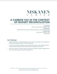 A Carbon Tax in the Context of Budget Reconciliation