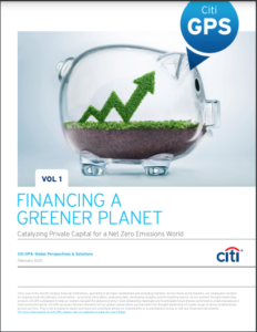 Financing a Greener Planet Volume 1: Catalyzing Private Capital for a Net Zero Emissions World